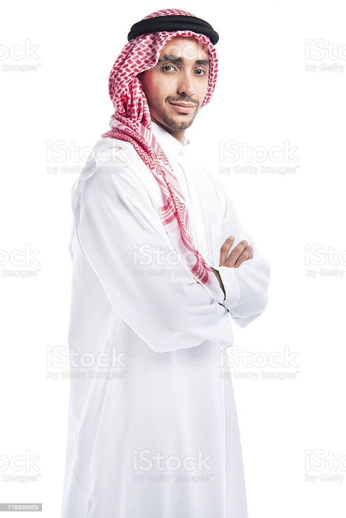 Arabic business man looking to camera royalty-free stock photo