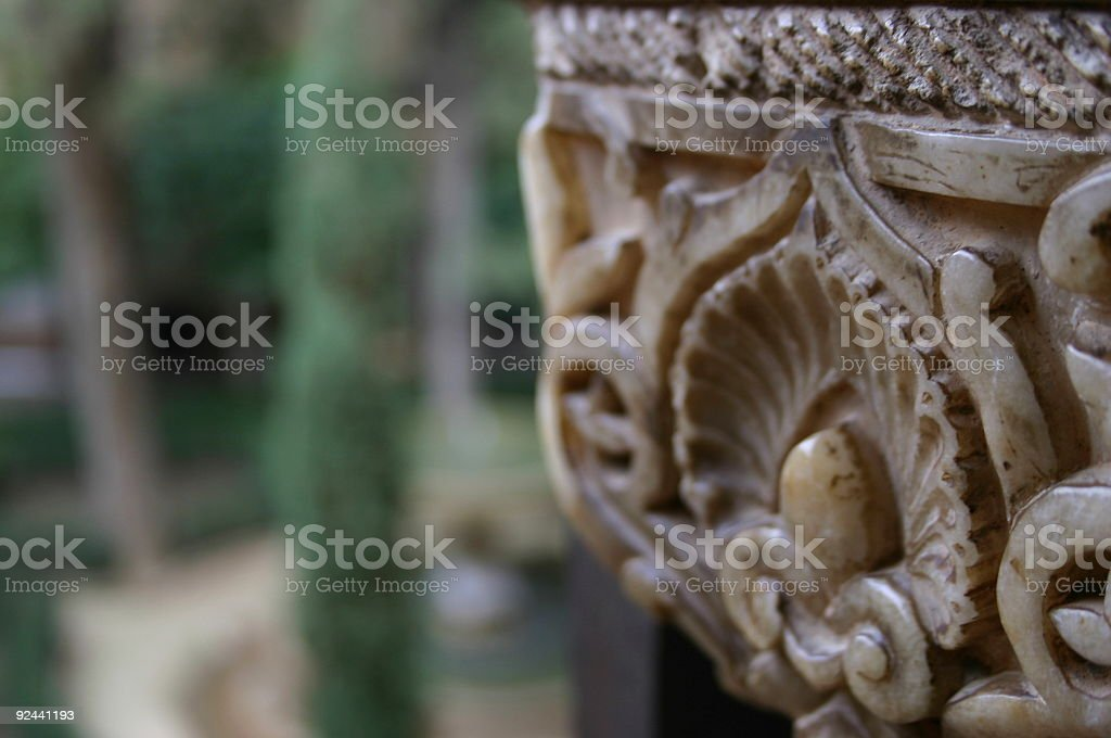 Arabic Column stock photo