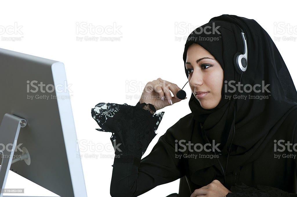 Arabic Customer Service Representative royalty-free stock photo