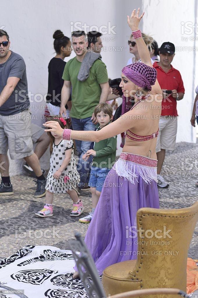 Arabic dancer stock photo