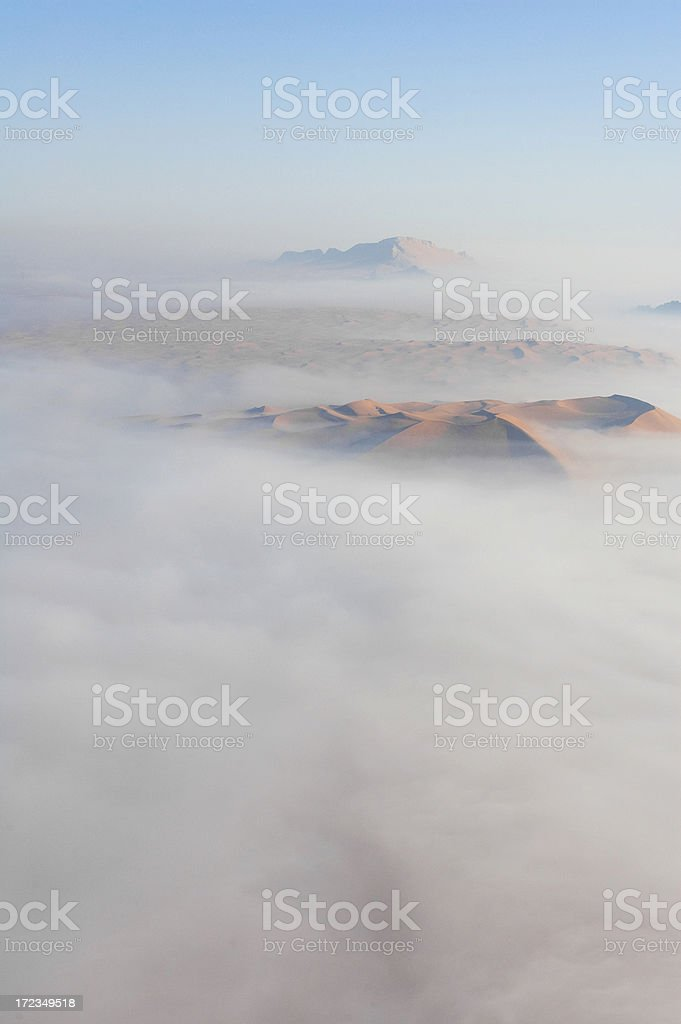 Arabic desert view from an Hot Air Balloon royalty-free stock photo
