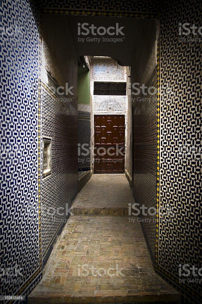 Arabic door stock photo