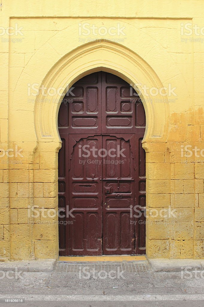 Arabic door royalty-free stock photo