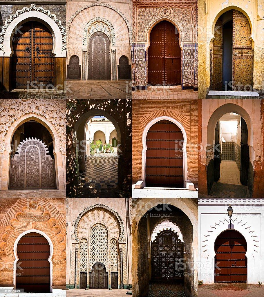 Arabic doors stock photo