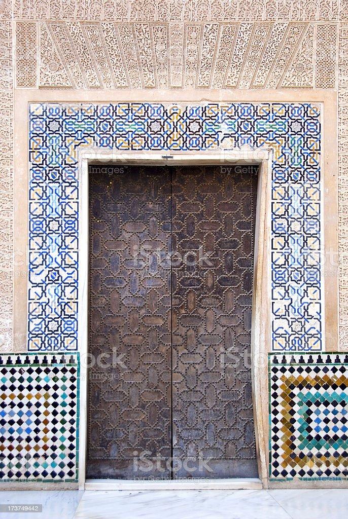 Arabic doorway royalty-free stock photo