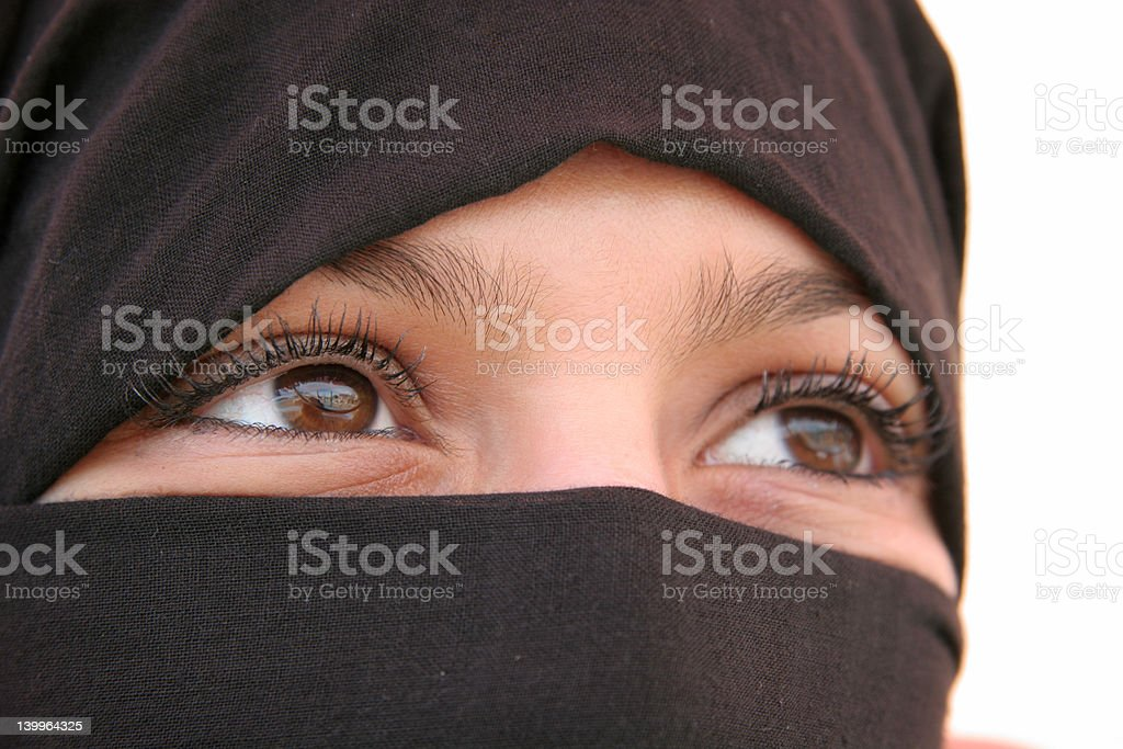 Arabic eyes 15 stock photo