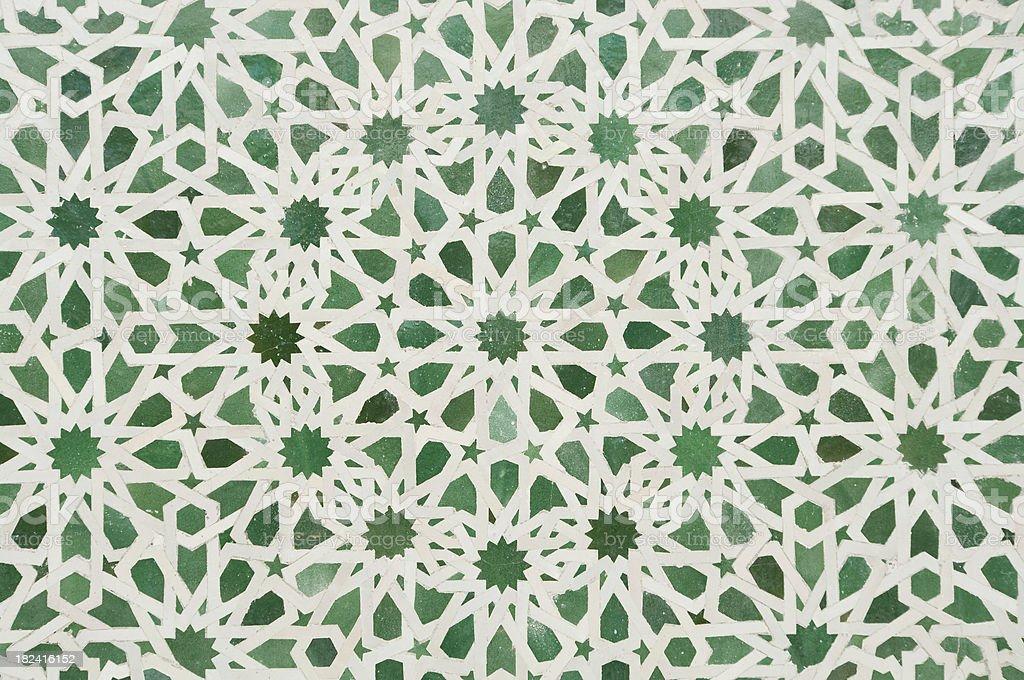 Arabic Islamic Zellige mosaic wall detail background stock photo royalty-free stock photo