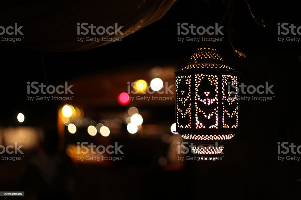 Arabic lamp stock photo