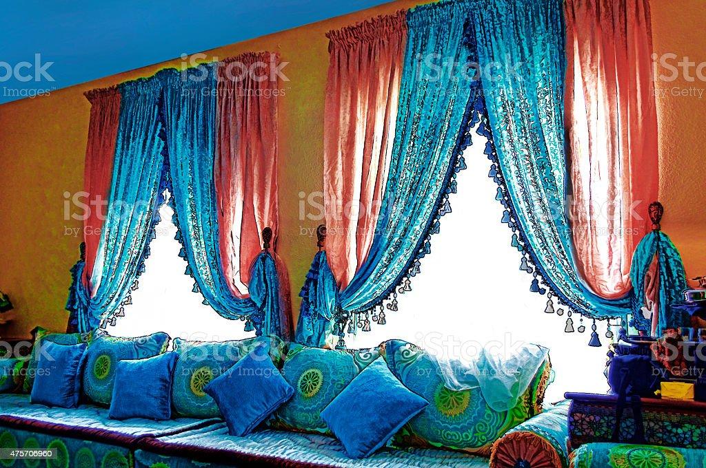 arabic living room stock photo