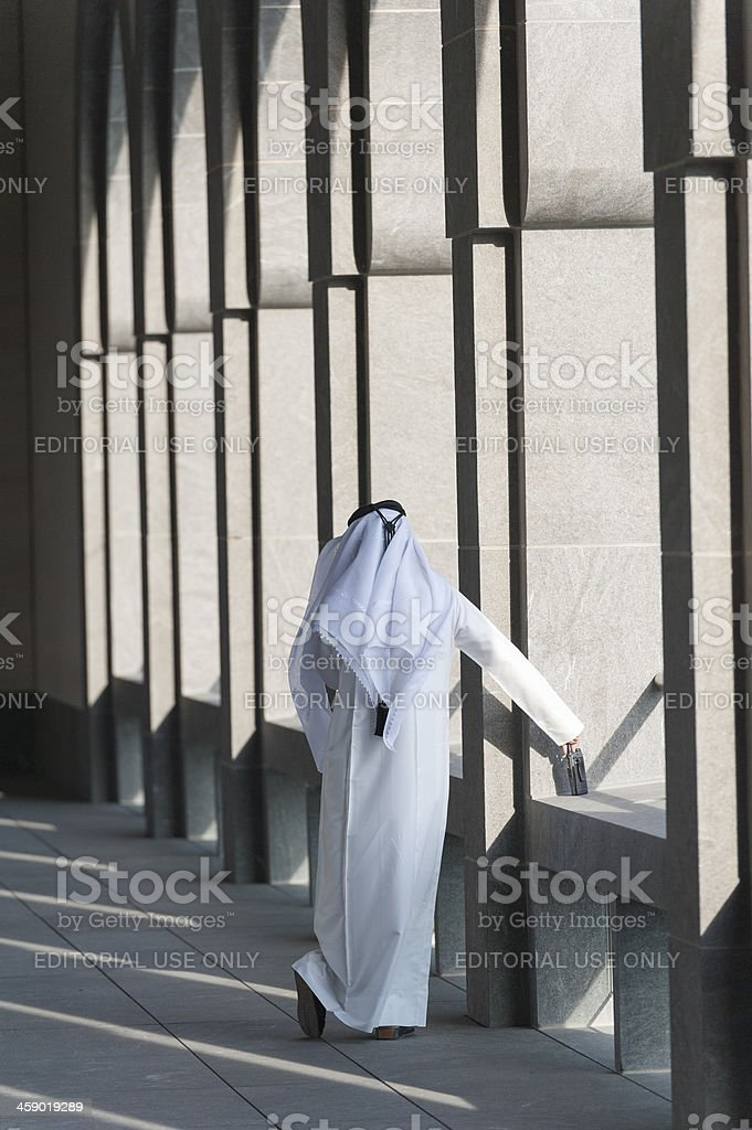 arabic man at the museum of Islamic Art in Doha royalty-free stock photo
