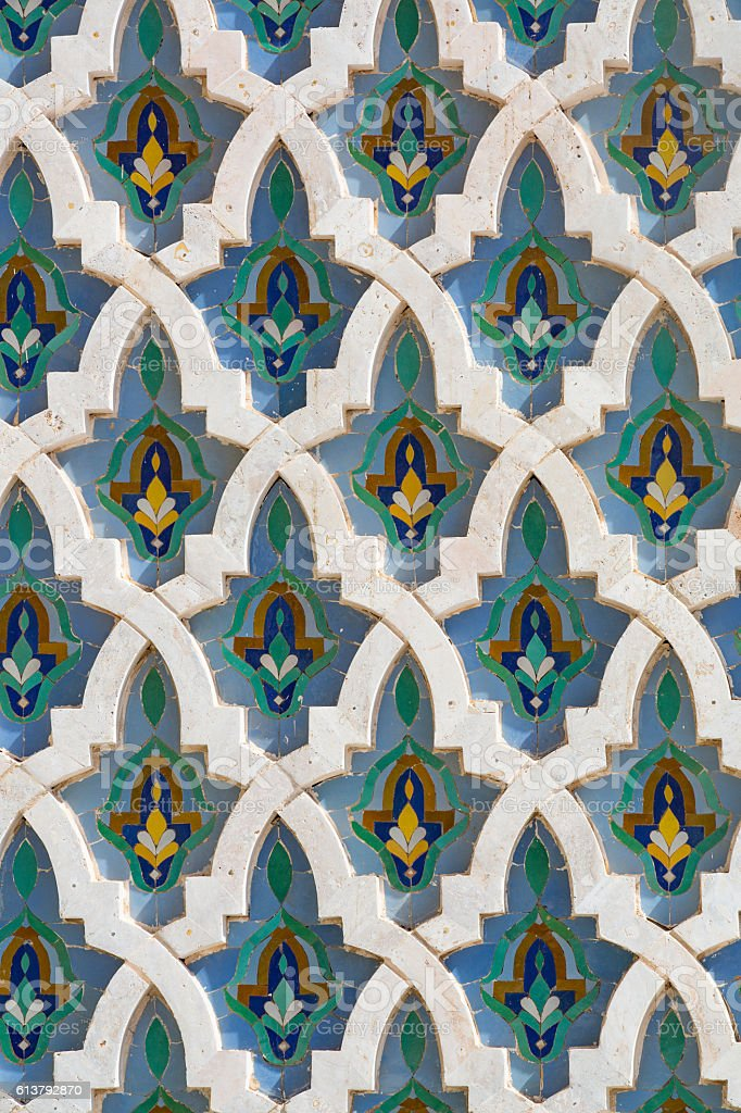 Arabic mosaic stock photo