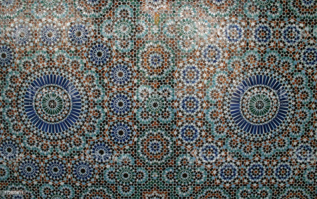 arabic mosque mosaic royalty-free stock photo