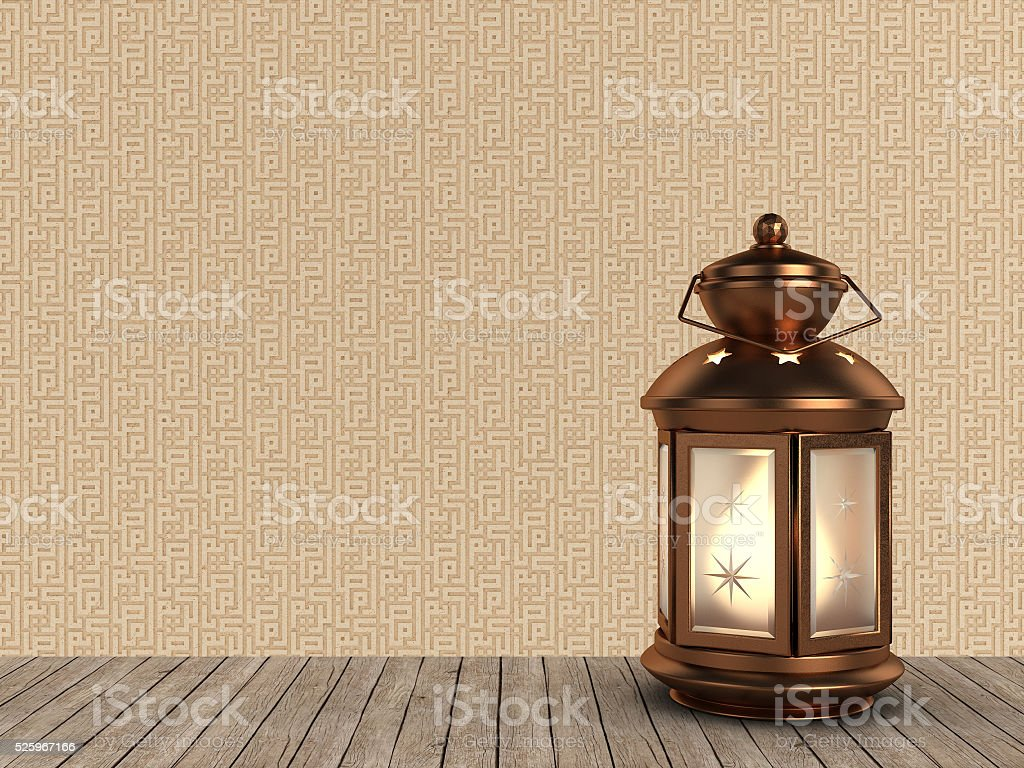 Arabic Ramadan Lantern | Copper Style stock photo