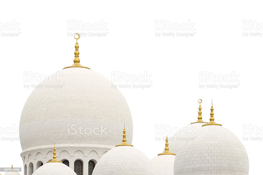 Arabic roof isolated on white stock photo