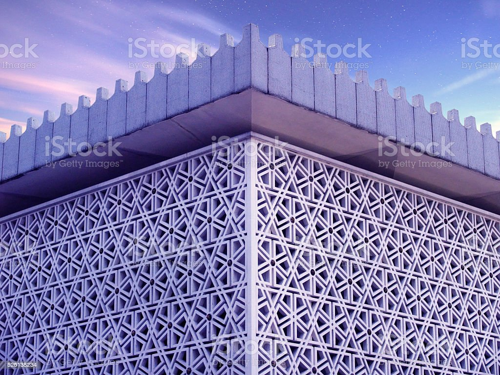 Arabic roof pattern stock photo