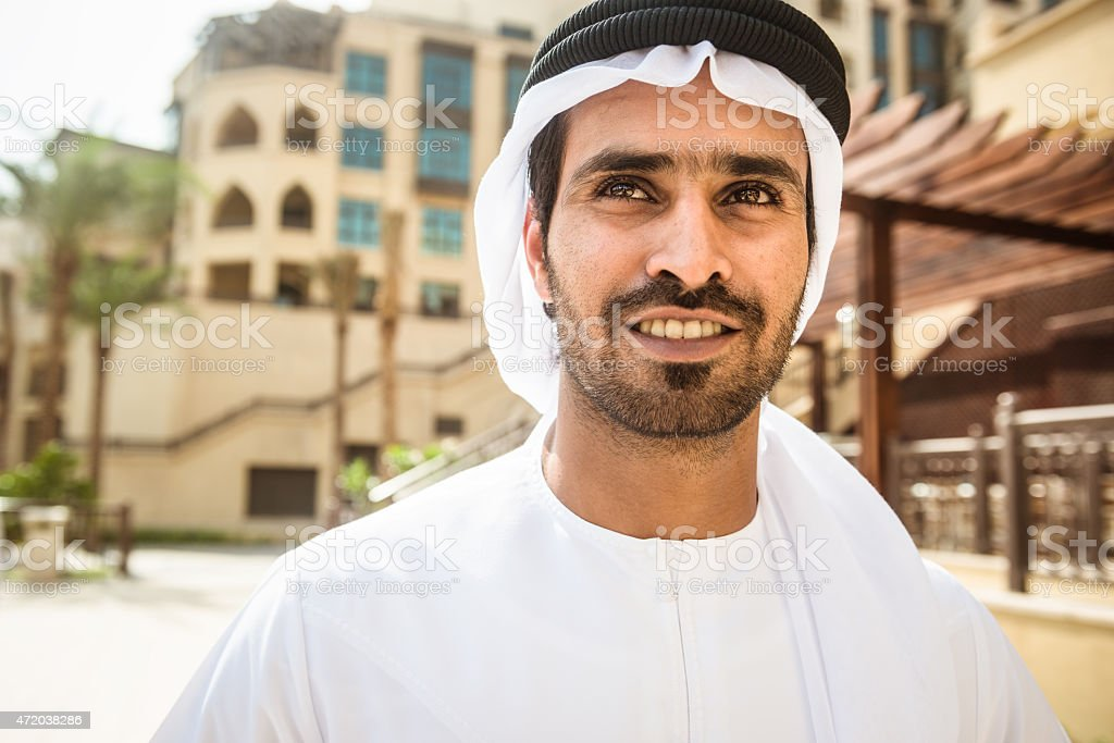arabic sheik portrait stock photo
