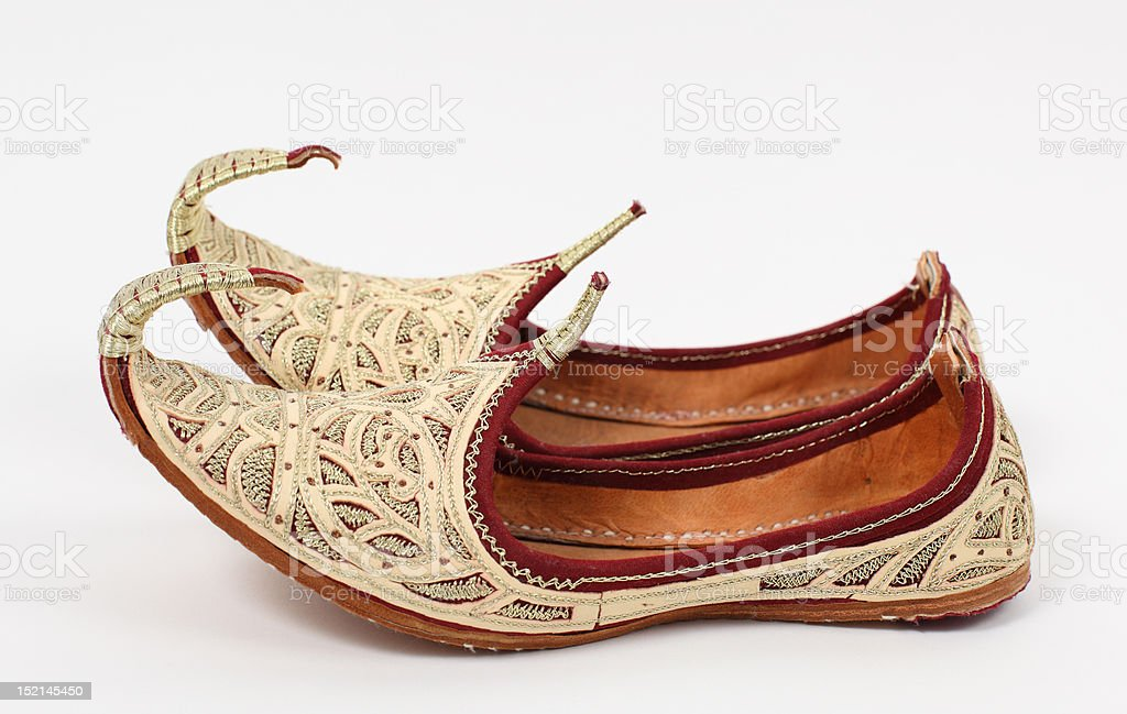 Arabic shoes stock photo