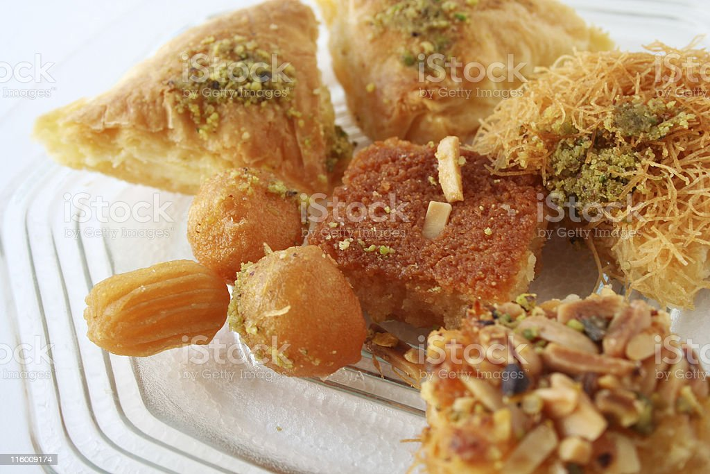 Arabic sweet pastries & dessert royalty-free stock photo