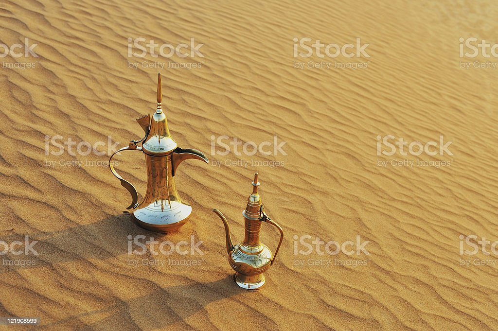 Arabic tea and coffee pots royalty-free stock photo