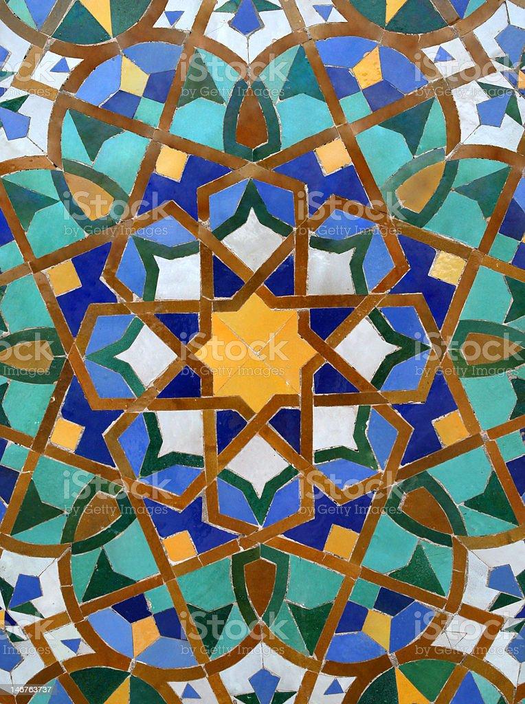 Arabic Tile Background royalty-free stock photo