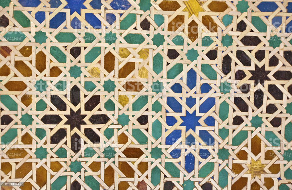 arabic tile stock photo