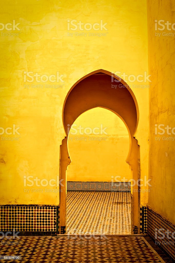 Arabic typical entry II stock photo