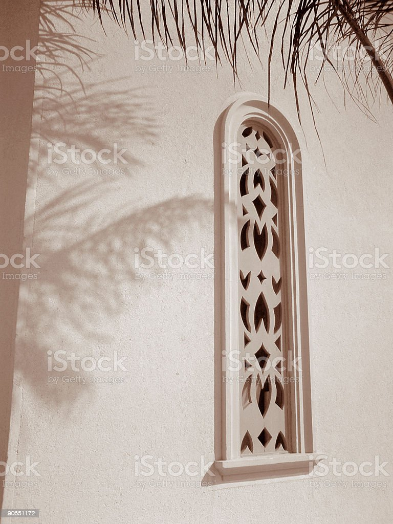 Arabic Window stock photo
