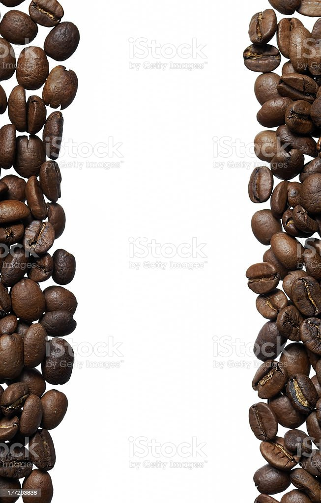 Arabica Coffee Bean Frame royalty-free stock photo