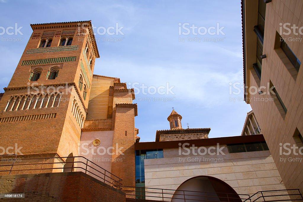 Aragon Teruel Los Amantes mausoleum in San Pedro Mudejar stock photo