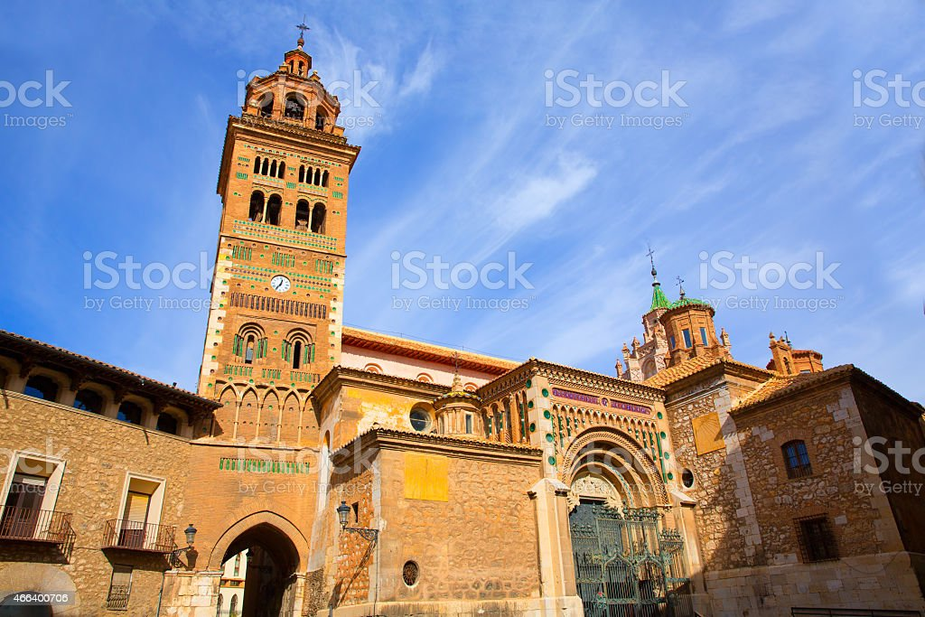 Aragon Teruel Mudejar Cathedral Santa Mar??a Mediavilla UNESCO stock photo