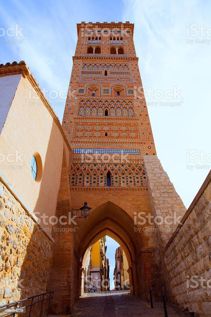 Aragon Teruel Torre de San Martin Mudejar UNESCO stock photo