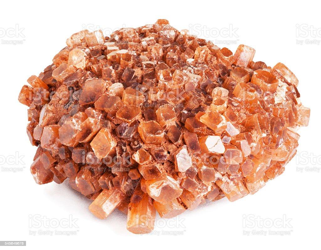 Aragonite crystal stock photo