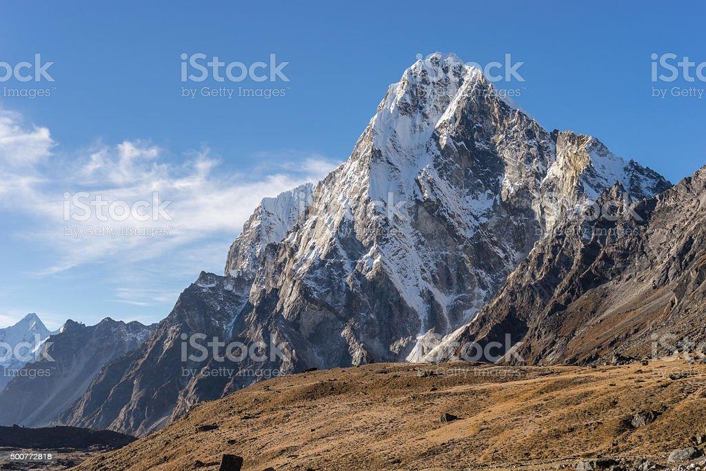 Arakam mountain peak, Everest region stock photo