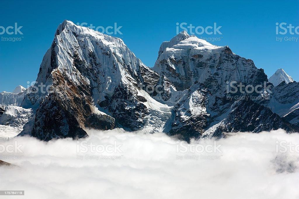 Arakam Tse, Cholatse and Tabuche Peak royalty-free stock photo