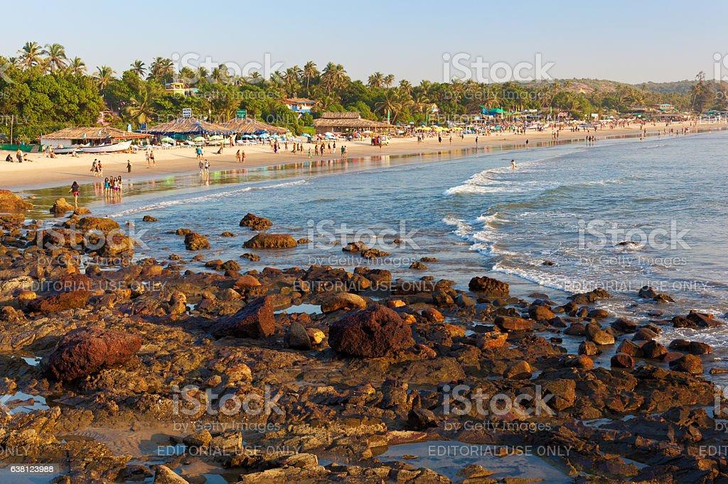 Arambol beach stock photo