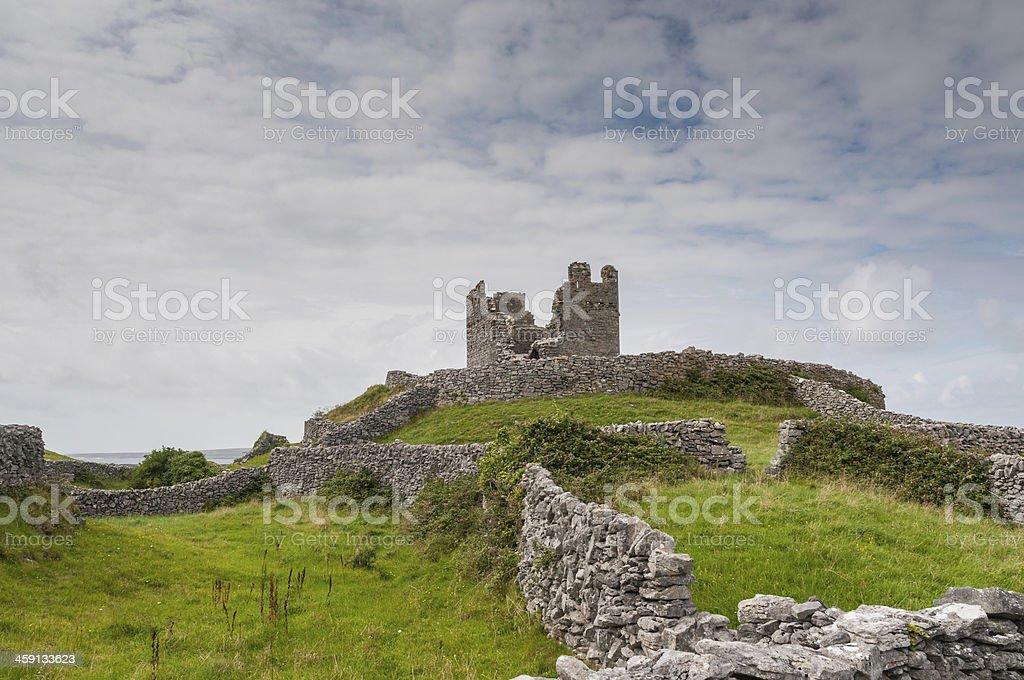 Aran Island Castle in Galway Bay stock photo