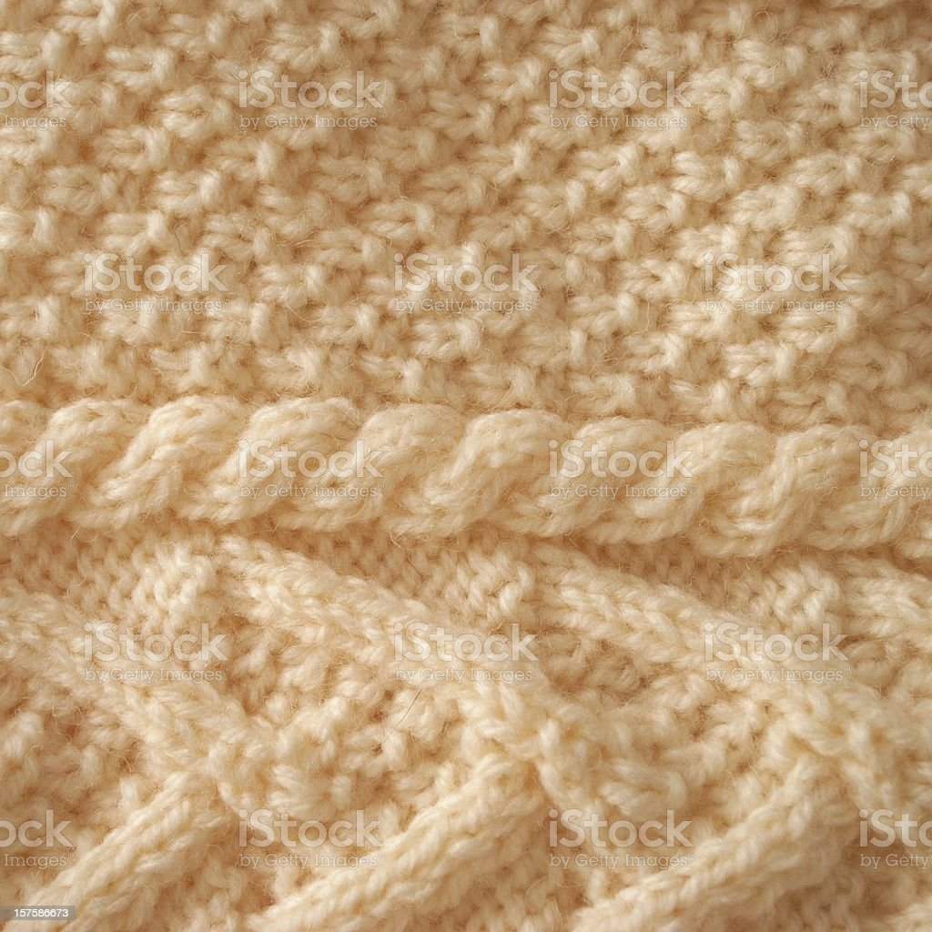Aran Knit Background stock photo