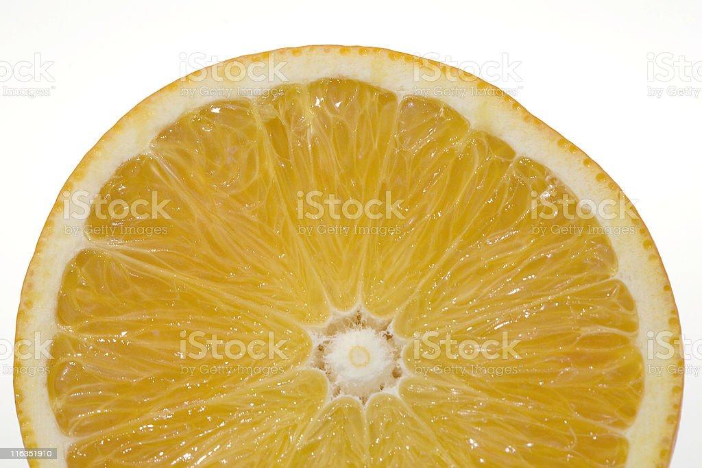arancia, tagliata a fette stock photo