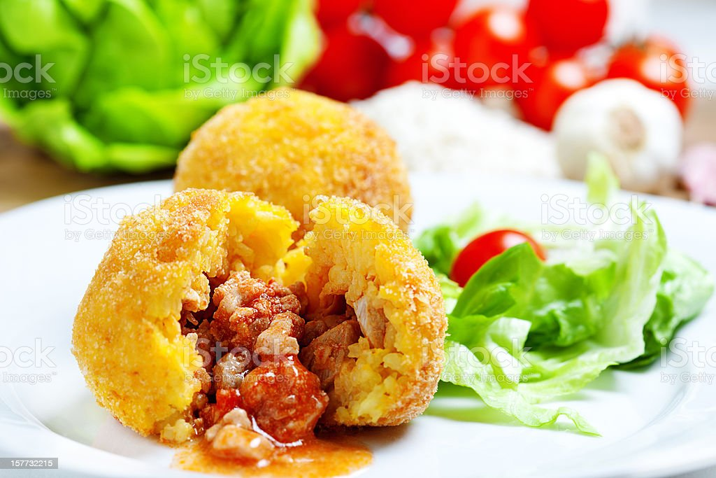 Arancini Siciliani stock photo