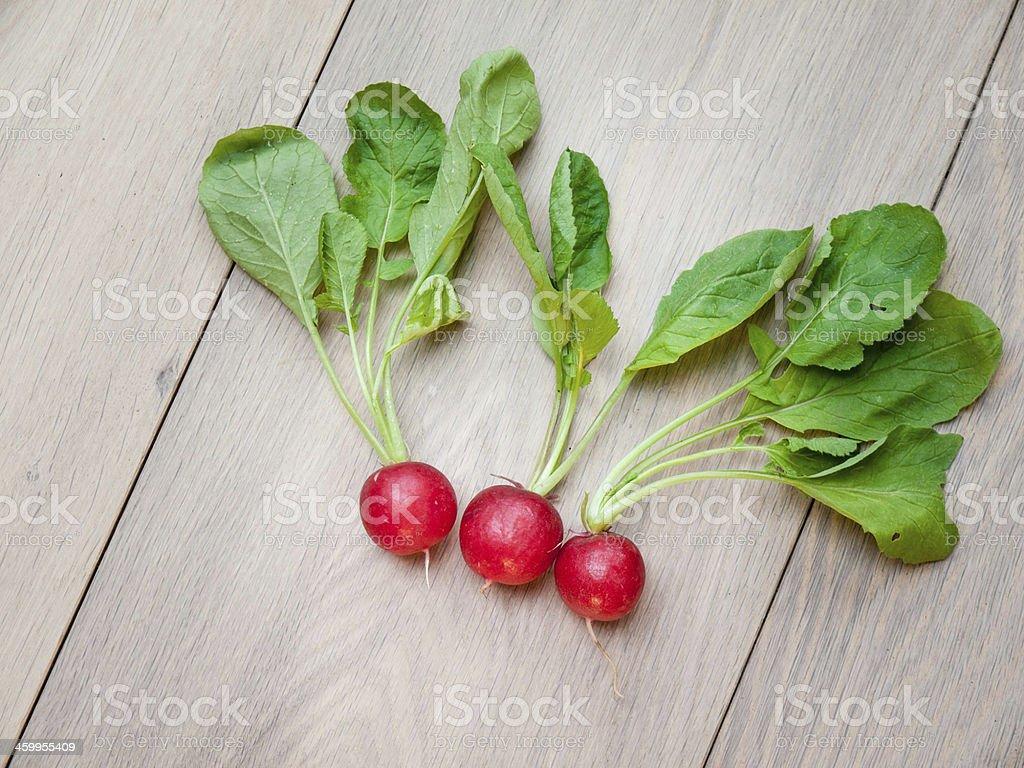 Arangement of Freshly Harvested Radish stock photo