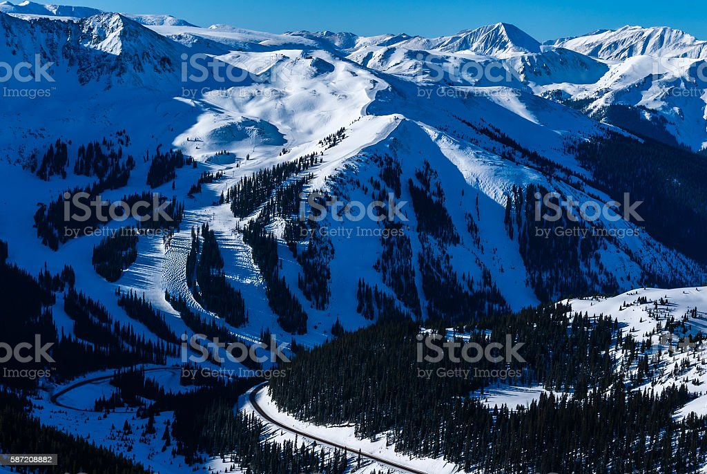 Arapahoe Basin Ski Resort stock photo
