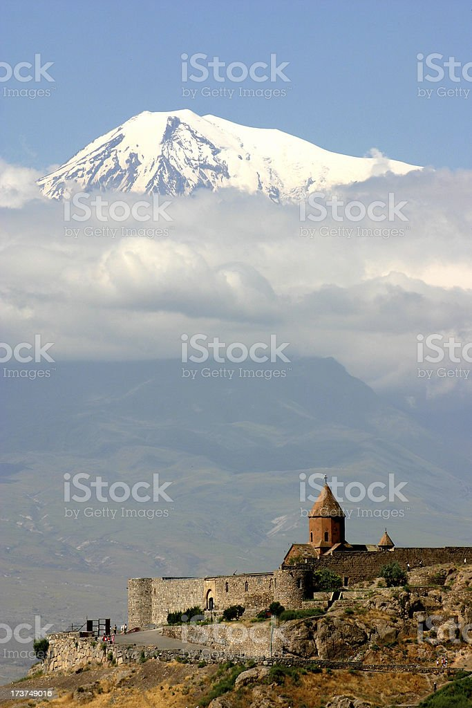 Ararat and church royalty-free stock photo