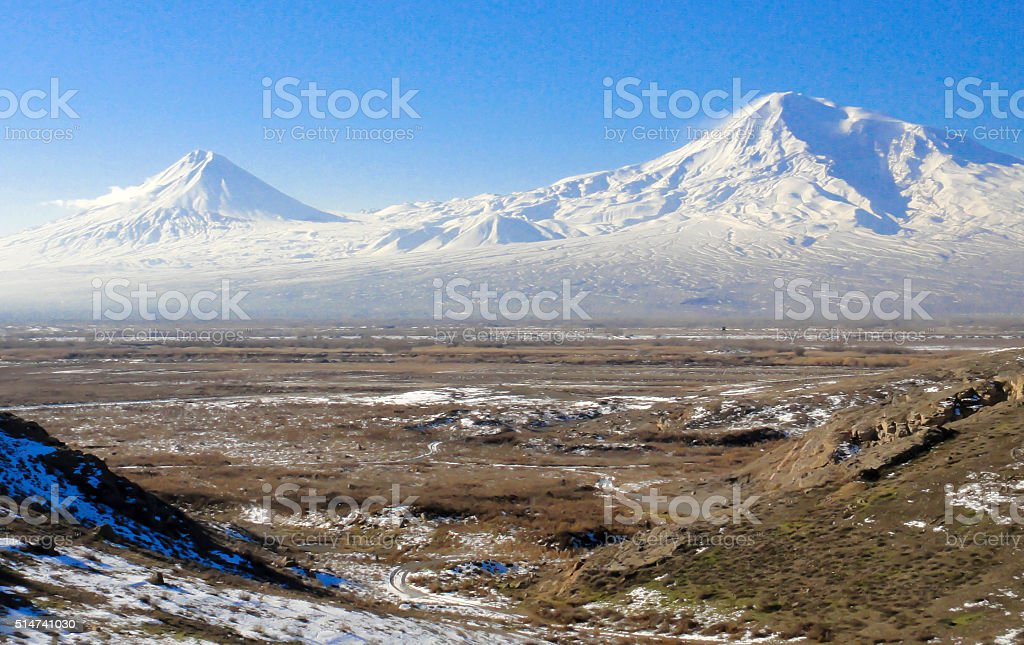 Ararat mountians stock photo