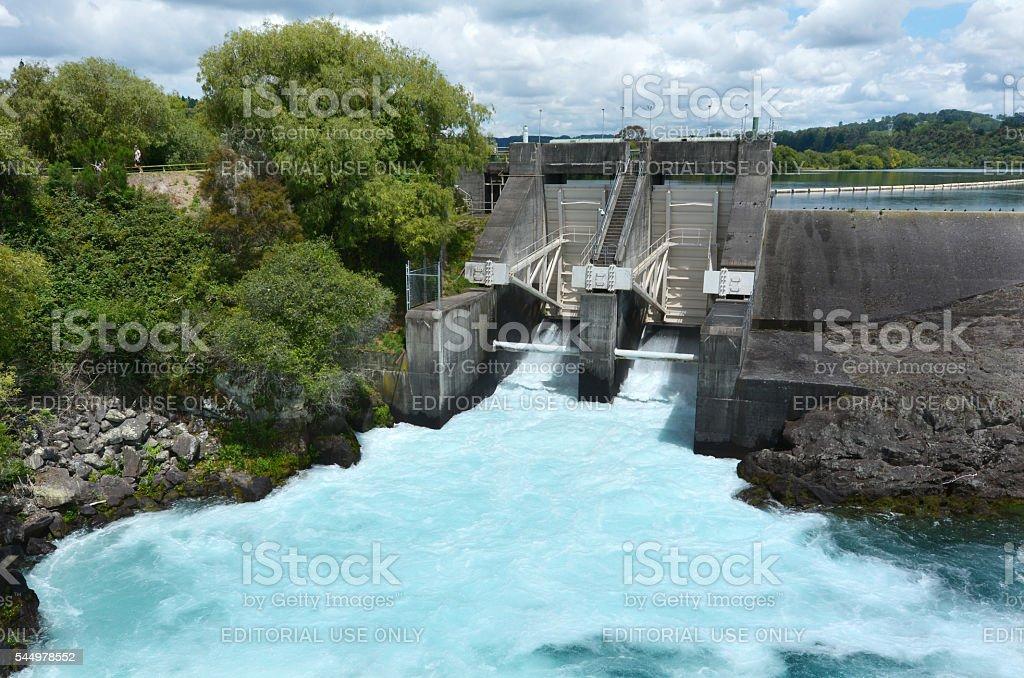 Aratiatia Rapids Dam near Taupo - New Zealand stock photo