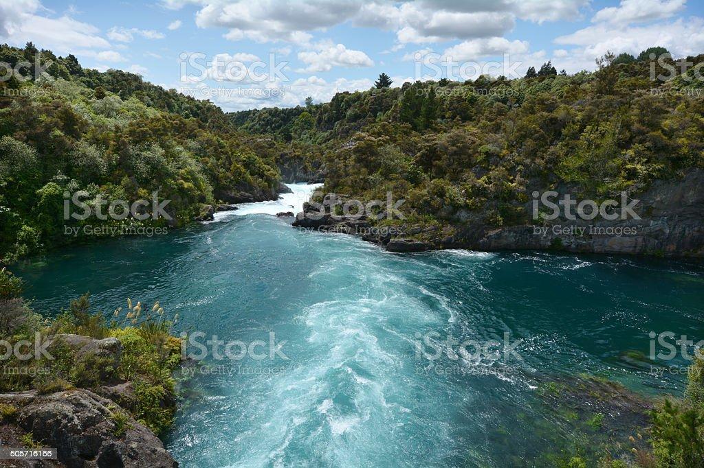 Aratiatia Rapids near Taupo - New Zealand stock photo