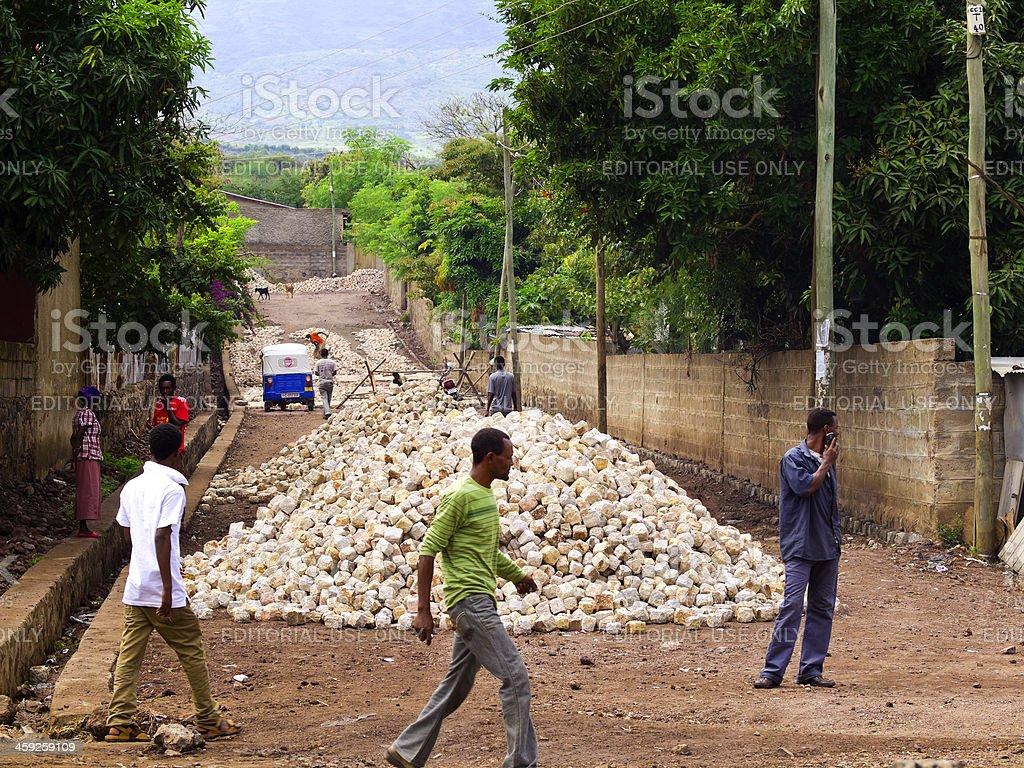 Arba Minch construction royalty-free stock photo