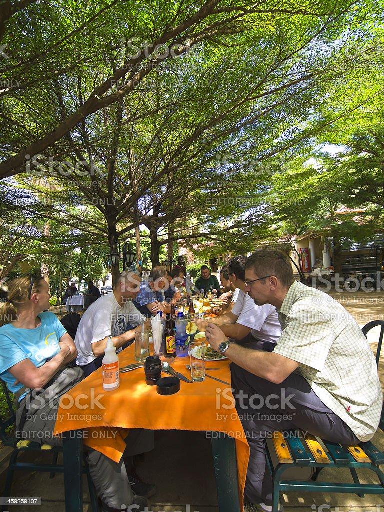 Arba Minch lunch stock photo