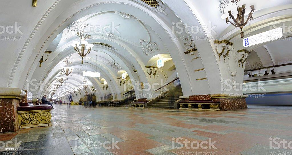 Arbatskaya metro stock photo