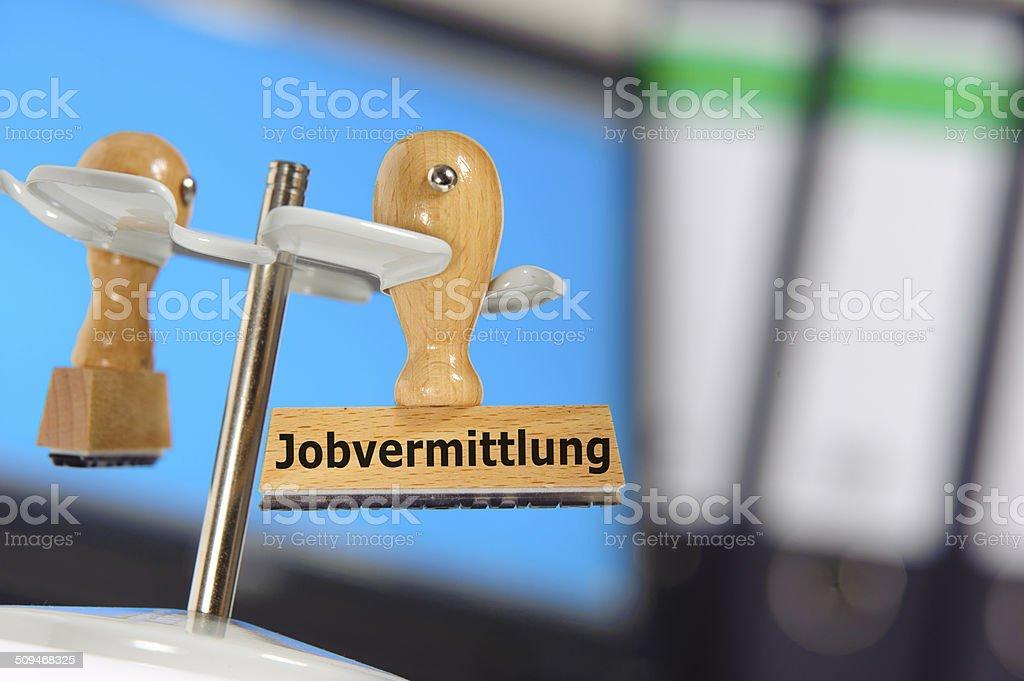 Arbeitsagentur and Jobvermittlung stock photo