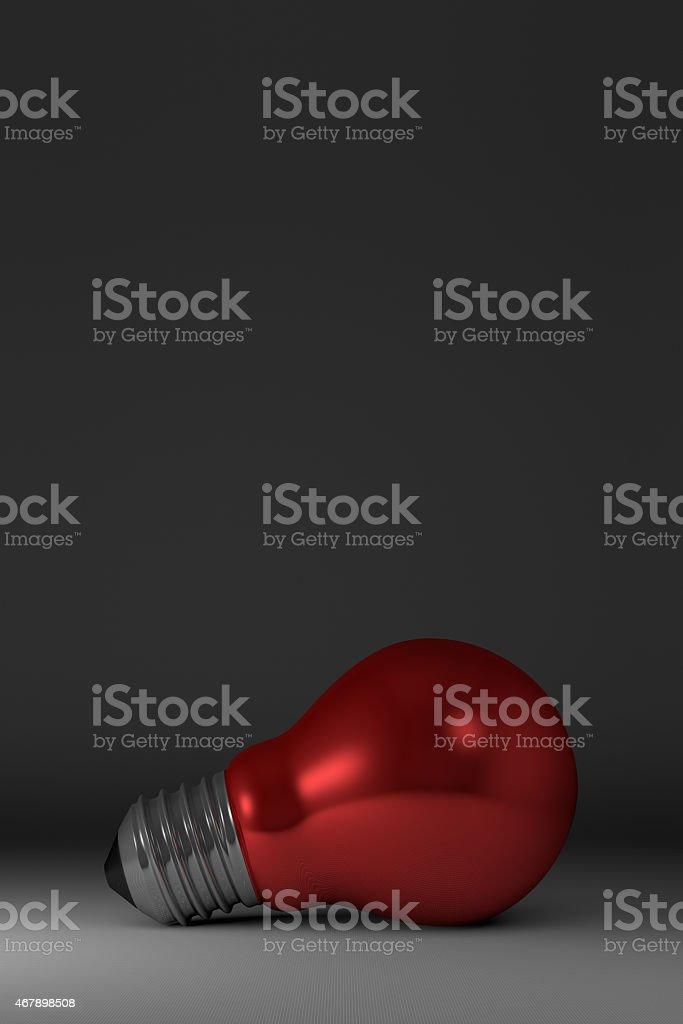 Arbitrary light bulb lying stock photo